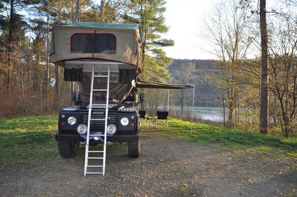 Camp im Allegheny Forest