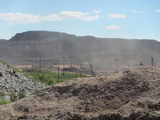 Riesen Baustelle der Mine
