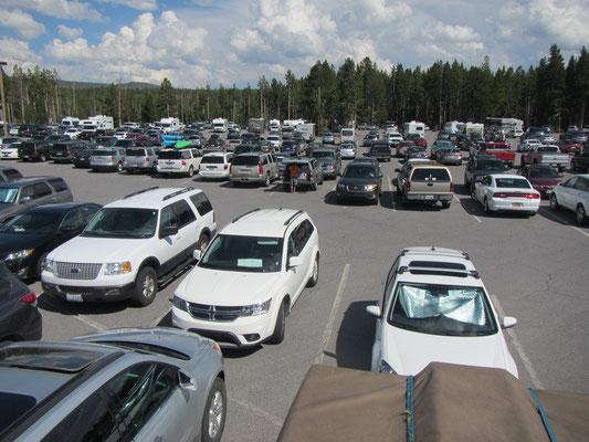 Yellowstone National Park-Ohhhjjjeee es hat wohl viele Leute