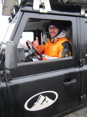 Mike ist ready für die Hafeneinfahrt