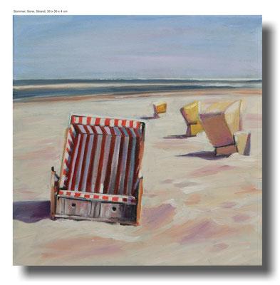 Sommer Sonne Strand 30 x 30 x 4 cm