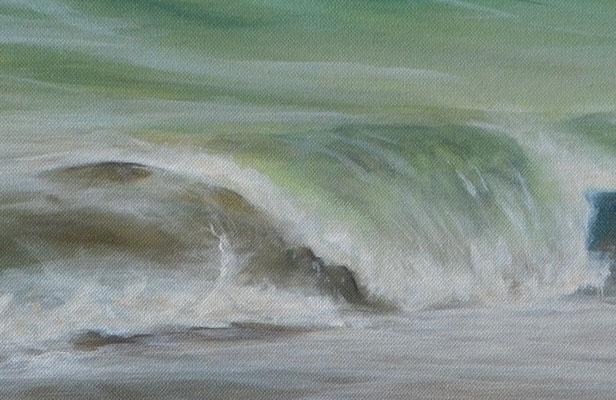 Wellenrauschen Detailaufnahme