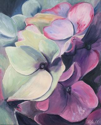 Hortensien im Spätsommer 40 x 50 cm