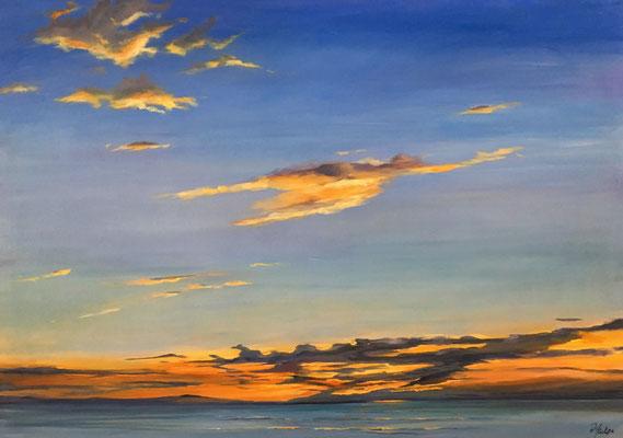 Abend am Meer 100 x 70 cm