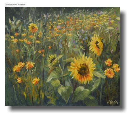 Sommergarten II 70 x 60 cm
