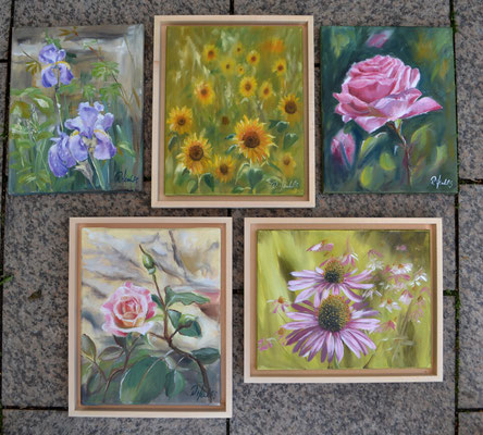 gemalte Blumenimpressionen