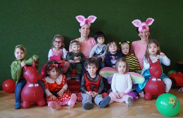 rosa Krabbelgruppe