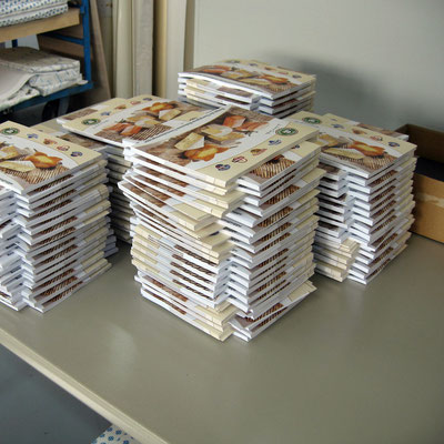 Rezeptbücher in der Produktion