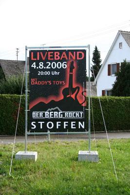 Spann-Banner für ein Konzert