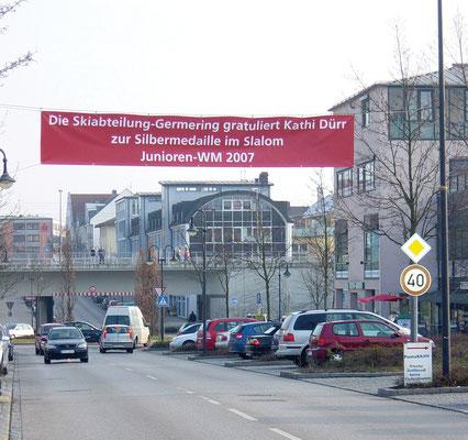 Banner für eine Sportlerehrung