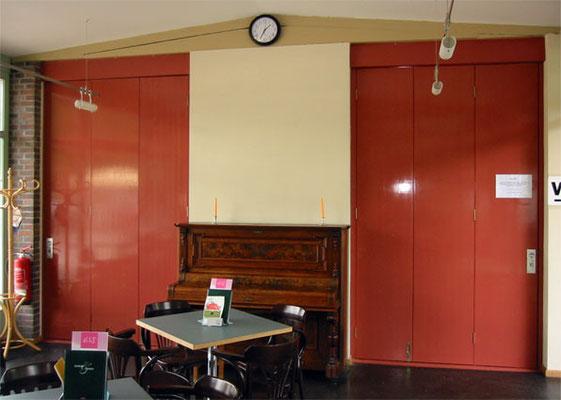 Falttür; Tischlerplatte; lackiert