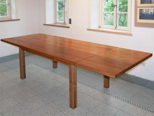 Küchentisch, Ansteckplatten, Kirschbaum geölt