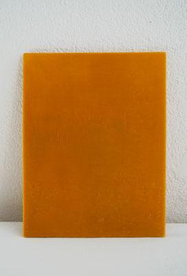 Ohne Titel, 2016, Holz, Bienenwachs, 32x22