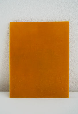 Ohne Titel _ Holz/Bienenwachs, 32x22, 2016