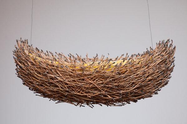 barca 3, 2013, Pinus maritima, Bienenwachs, Draht,55x20x20