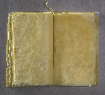 Buch 01 _ Bienenwachs/Faden, 18 x 12 x 1 cm, 2017