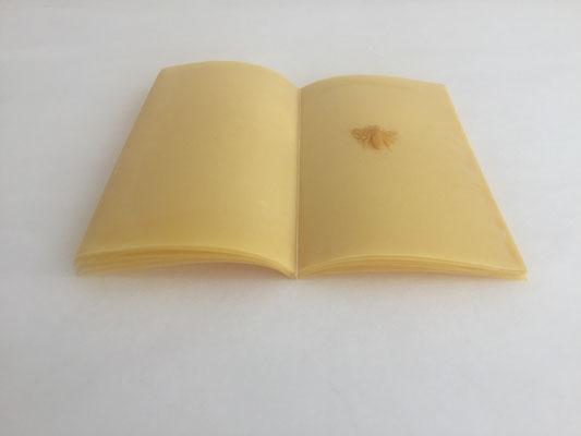Buch 04 _ Reispapier/BienenwachsFaden, 18 x 12 x 1 cm, 2018