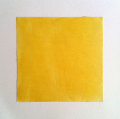 einfarbig 01 _ Bienenwachs/Papier, 30 x 30 x 0,5 cm, 2018
