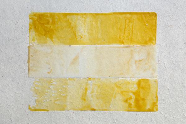 ohne Titel _ Bienenwachs auf Papier, 34 x 51 cm, 2017