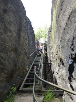 Gittertreppe auf dem Rauenstein