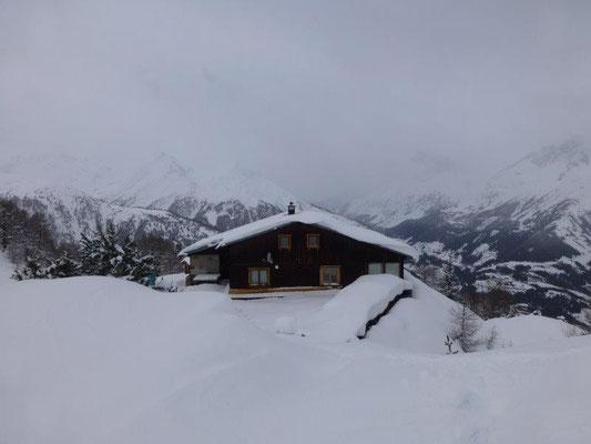 Die Wetterkreuzhütte im Winterschlaf
