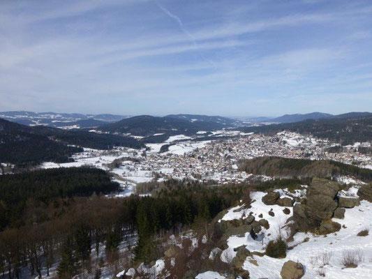 Blick vom Silberberg nach Bodenmais