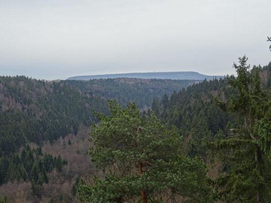 """Blick zum Hohen Schneeberg, dem """"Dach des Elbsandsteingebirges"""""""