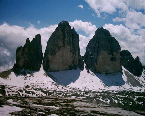 Die Drei Zinnen - das Wahrzeichen dieser Dolomitenregion