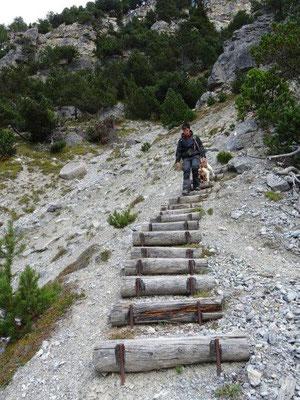 ... dann ging es über Stufen ...