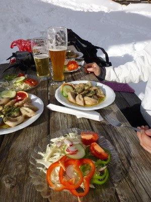 Deftige Tiroler Speisen an der Stabanthütte