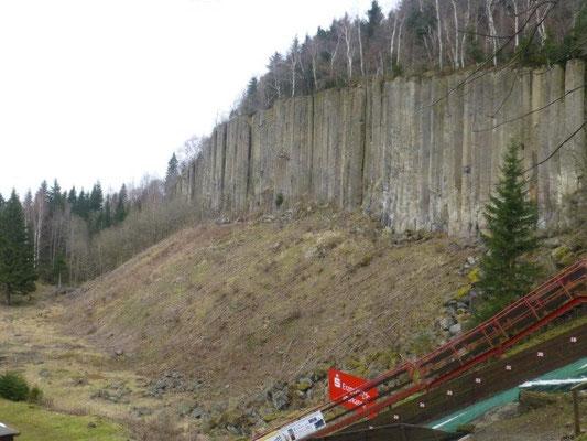 Die berühmten Orgelpfeifen am Scheibenberg