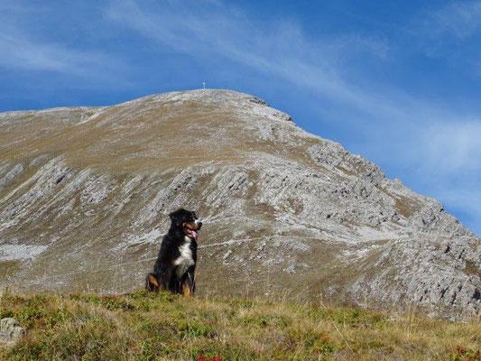 Vreni vor unserem Gipfelziel - dem Piz Lat