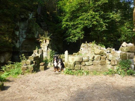 Ruinen der Grundmühle im Kamnitztal