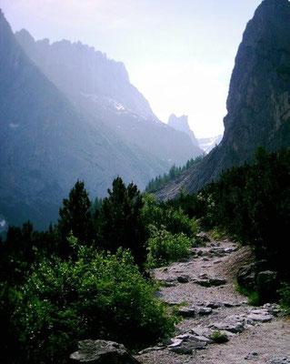 Einser-Umrundung - Aufstieg vom Fischleintal zur Zsigmondyhütte