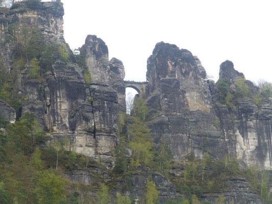 Die Basteibrücke bei Rathen