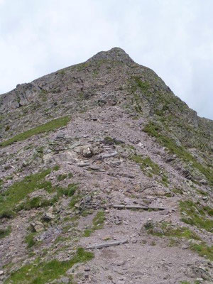 Gipfelaufstieg zur Großen Laugenspitze
