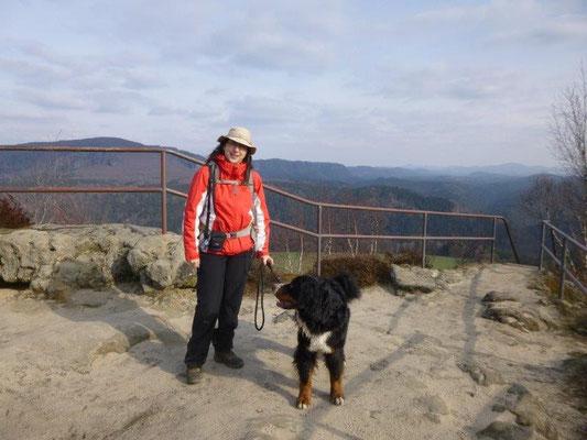 Vreni und ich auf dem Zirkelstein (Foto: Kaj Kinzel)