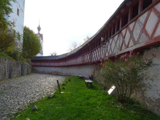 Fachwerkgang in der Nordwehrmauer