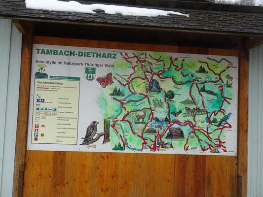 Übersichtskarte in Tambach-Dietharz