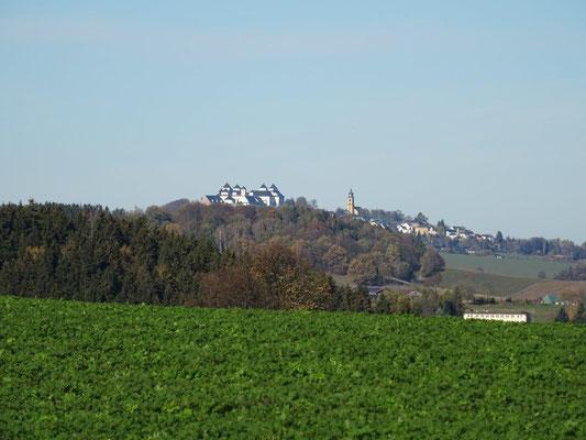 Blick von Wünschendorf zur Augustusburg