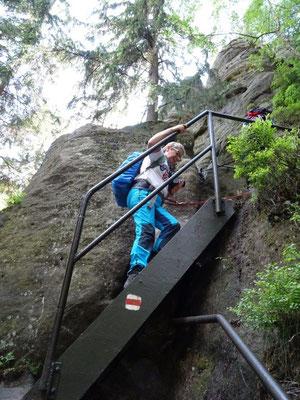 Aufstieg zum Hermannseck
