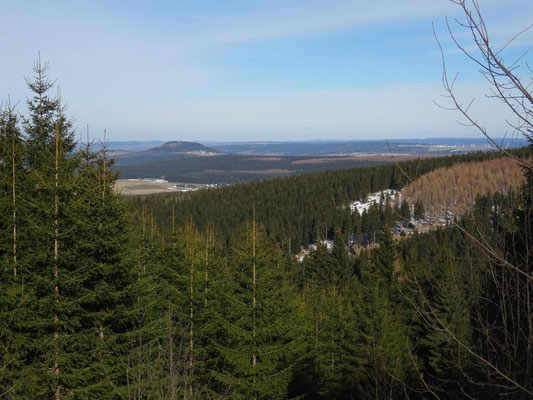 Blick zum Erzgebirge