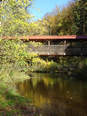 Holzbrücke über die Flöha