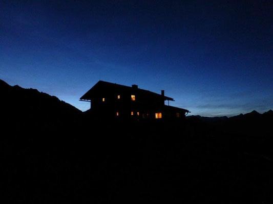 Abend an der Zupalseehütte