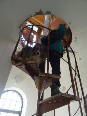 Spannende Treppe im Aussichtsturm
