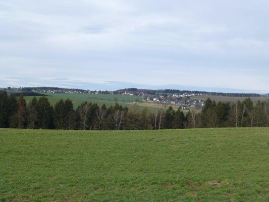 Blick vom Panoramaweg nach Kleinolbersdorf