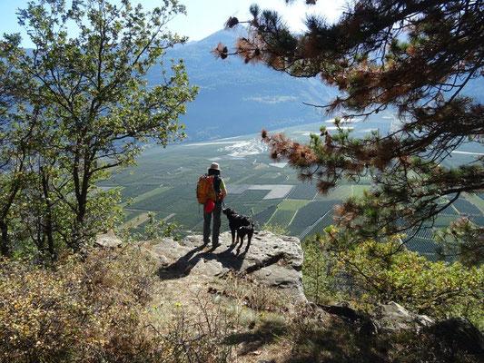 Traumhafte Aussicht über den Vinschgau bei Kastelbell