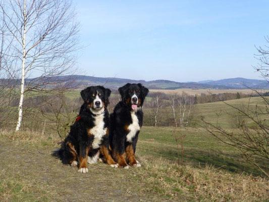 Gusti und Vreni auf der Napoleonschanze bei Hohnstein