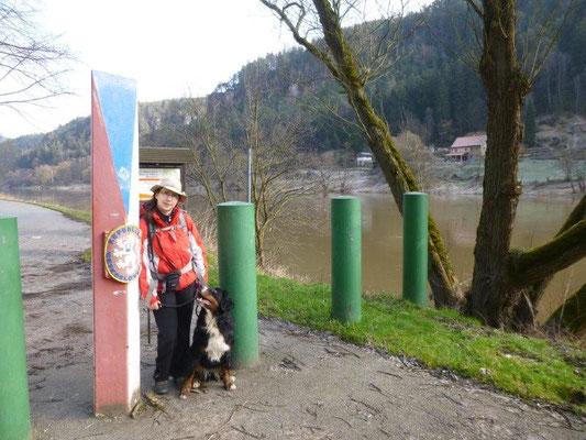 Die Grenze zu Tschechien (Foto: Kaj Kinzel)
