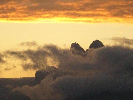 Sonnenaufgang an den Geislerspitzen